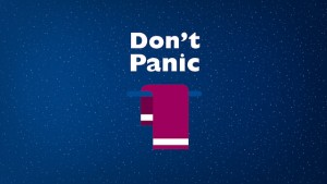"Thanks to audiencestack.com for the ""Don't Panic"" image."