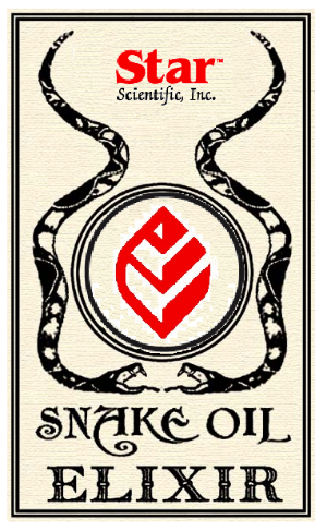 Parody drawing of Star brand snake oil