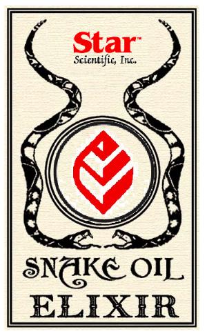 dibujo parodia de aceite de serpiente de la marca de la estrella